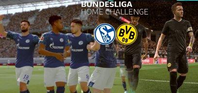 FIFA-Derby zwischen Schalke und BVB bei der Bundesliga Home Challenge