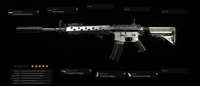 Eine sehr gute Alternative: Schon seit Launch hält sich die M4A1 unter den besten Waffen auf.