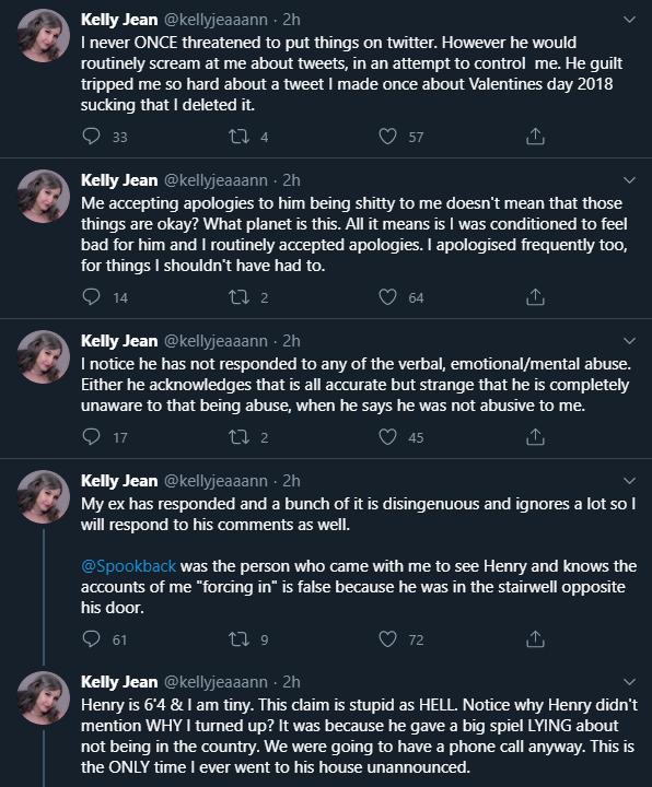 Screenshot Kelly Jean Twitter