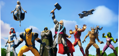 Thor, Iron Man und Groot in Fortnite Nexus War