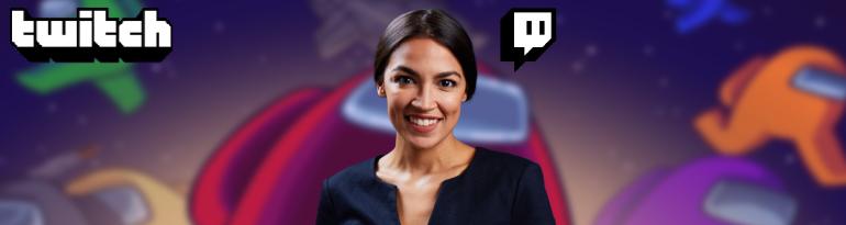 Alexandria Ocasio-Cortez streamt auf Twitch