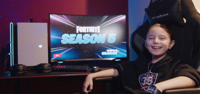 Eight-year-old goes Pro in Fortnite