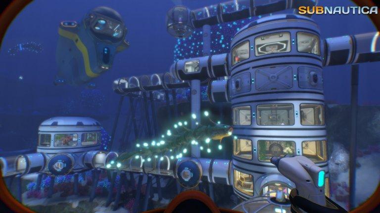 Egoperspektive auf eine gebaute Unterwasserstation