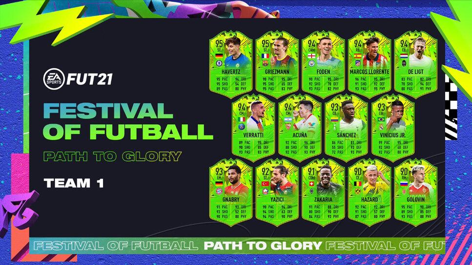 Festival of FUTball Path to Glory Team 1 EA Sports FIFA 21 Ultimate Team