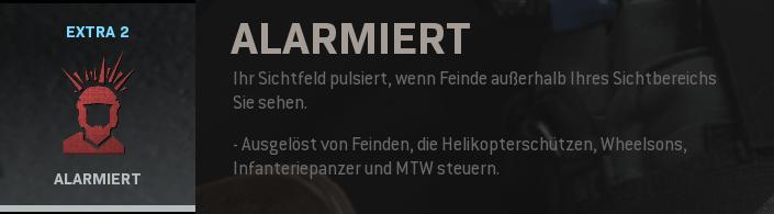 Alarmiert Perk Screenshot