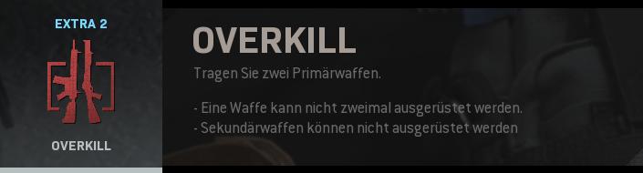Overkill Perks Screenshot
