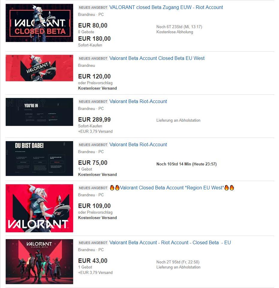 Ebay Screenshot Valorant
