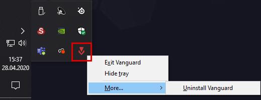 Vanguard Deinstallierbar Symbol
