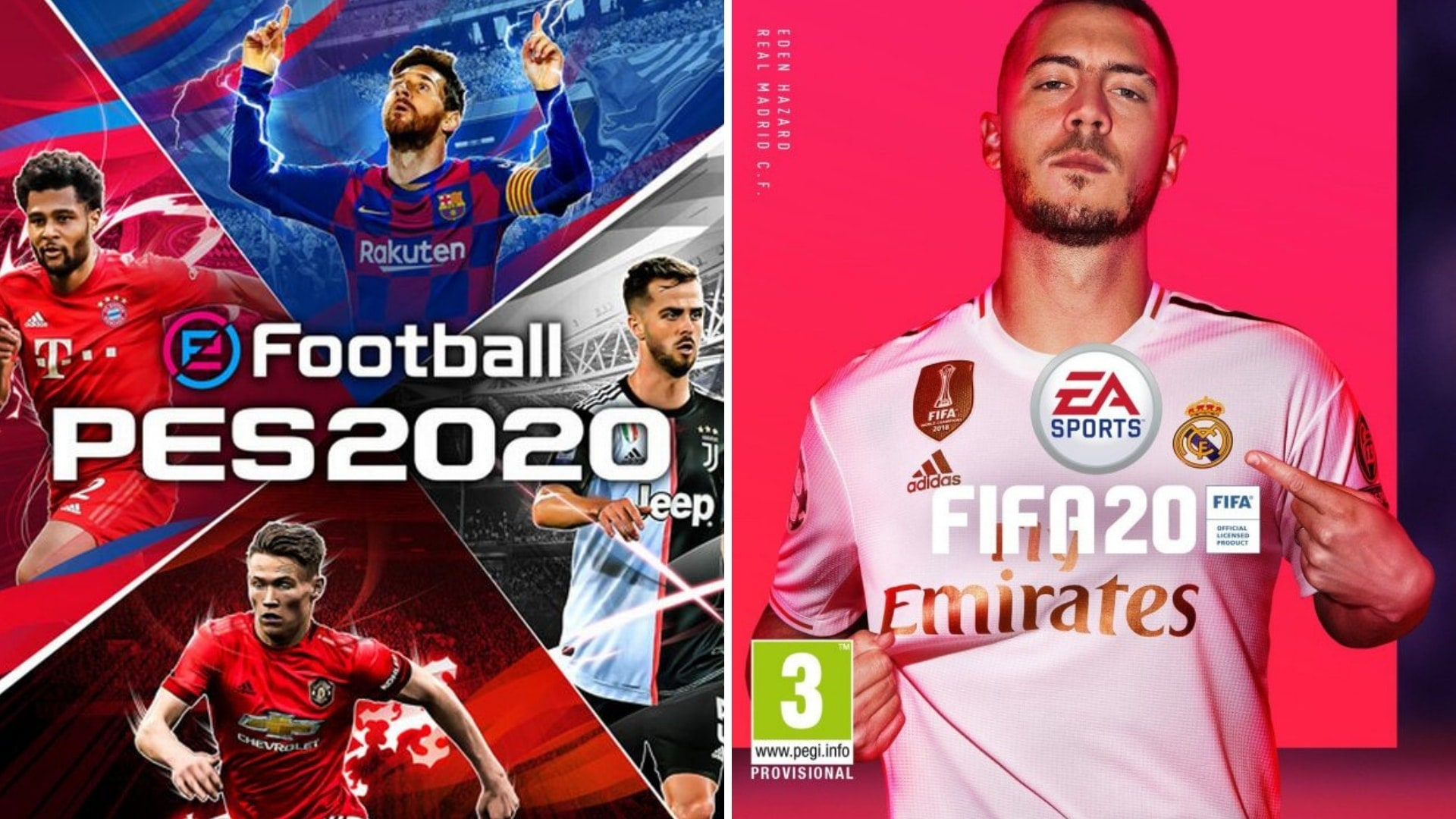 PES2020 gegen FIFA20