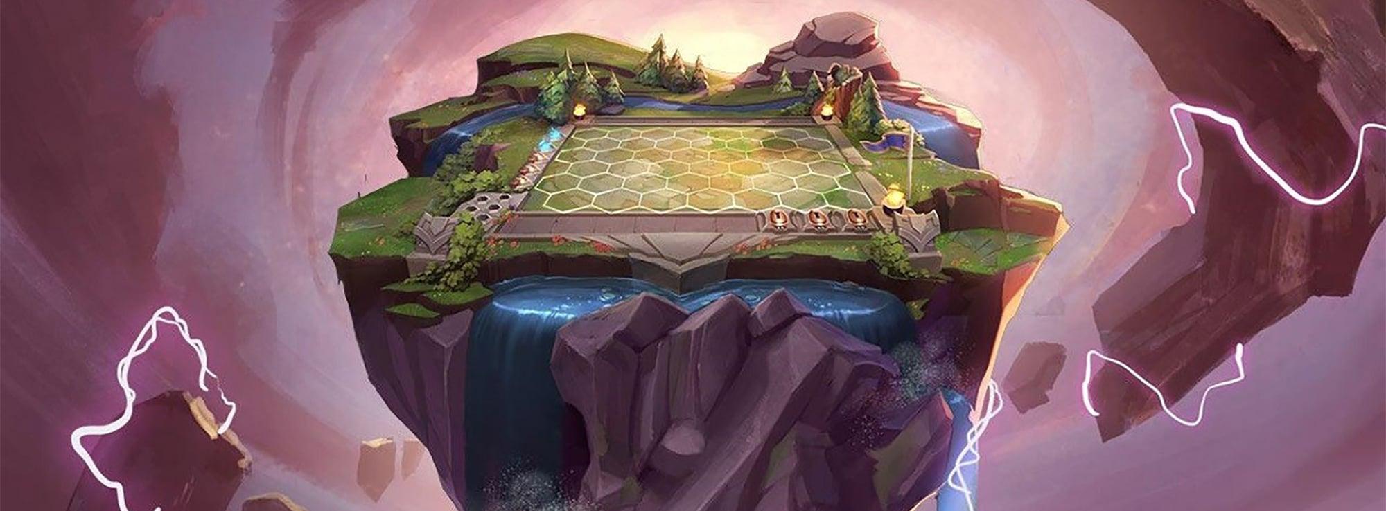 Das Spielfeld von Teamfight Tactics
