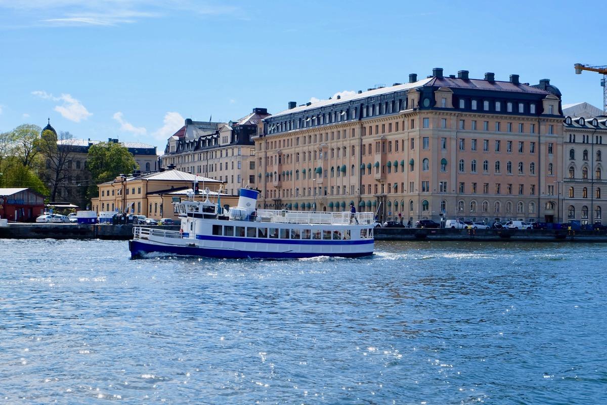 Вид с набережной Стокгольма