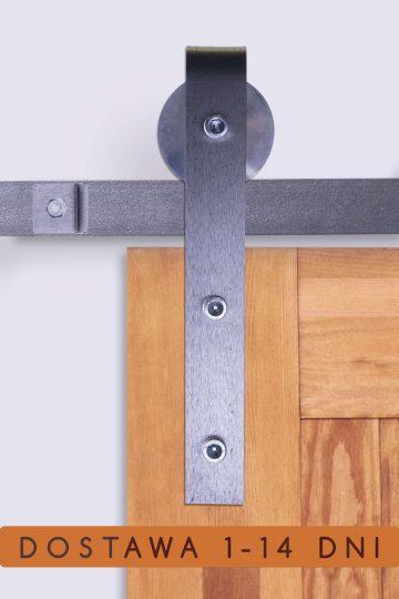 system drzwi przesuwnych LOFT, industrialny, surowa stal, stalowy