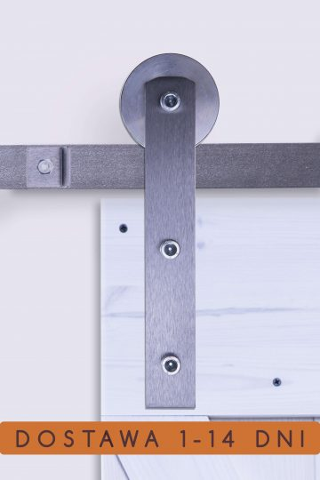 prowadnica drzwi przesuwnych, stalowe prowadnice, w kolorze stali, surowa stal, system do drzwi przesuwnych