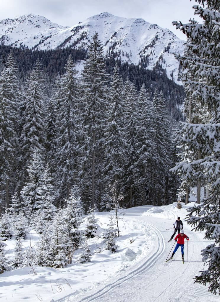 Obertilliach Winter Osttirol Strasserwirt Langlaufen