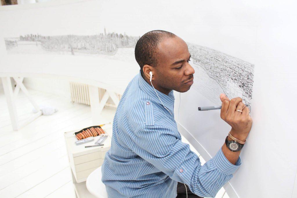 Гений: Стивен Уилтшир по памяти рисует потрясающие полотна