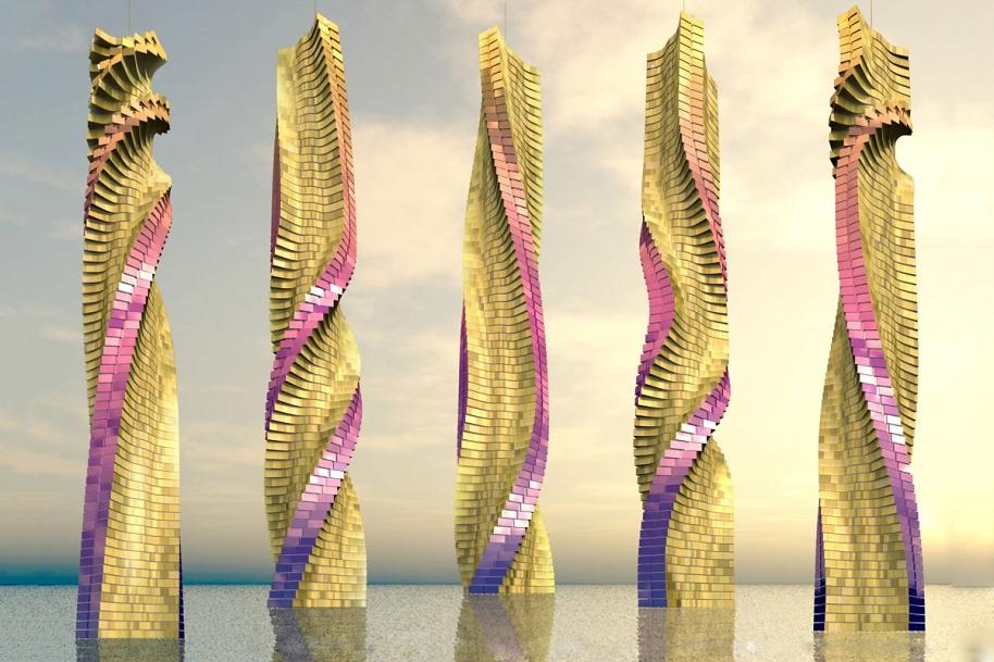 Вращающийся небоскреб «Dynamic Tower» Фишера