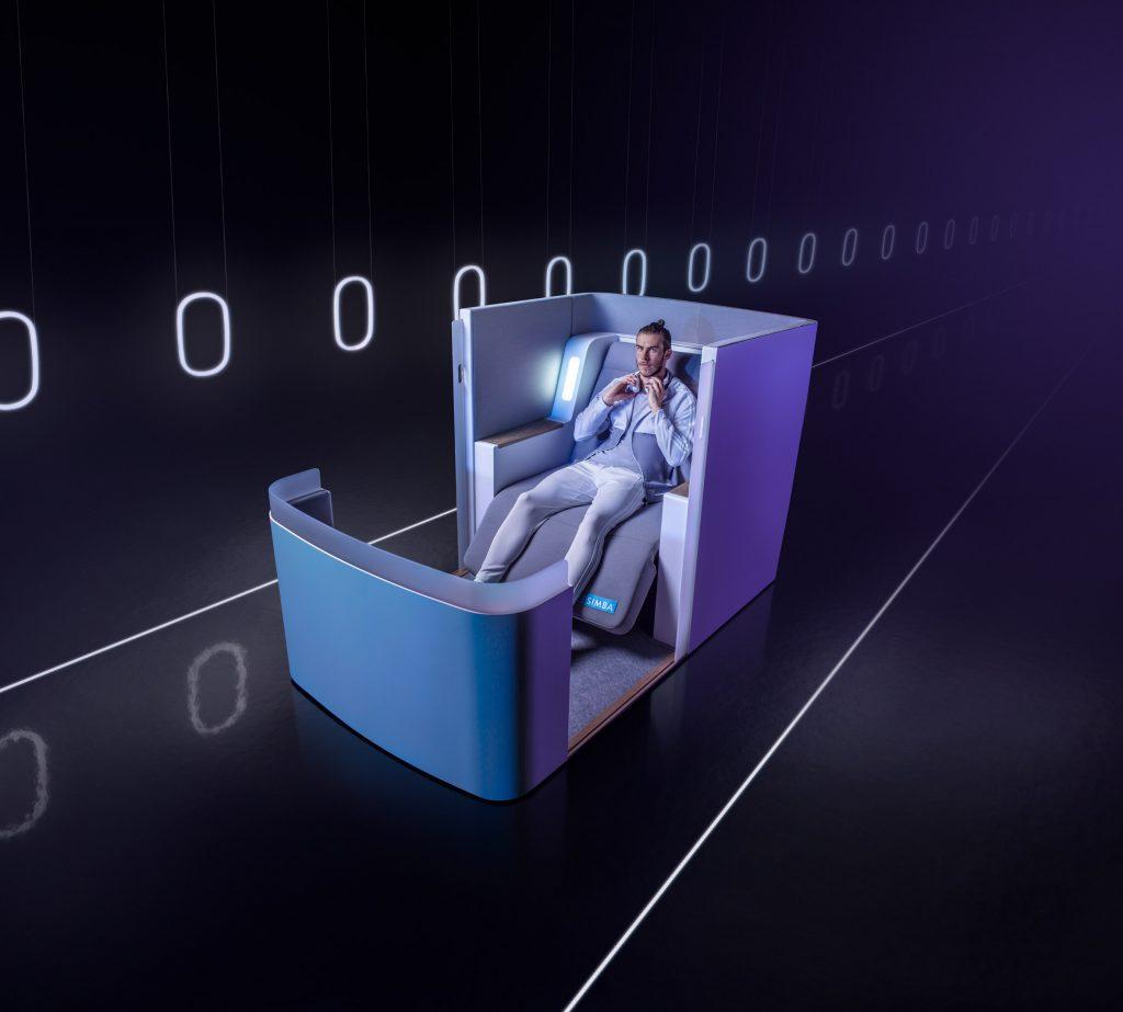 Высокотехнологичное самолетное кресло от Simba Sleep