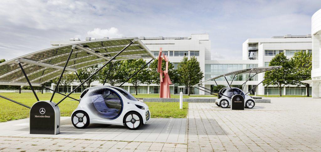Концепция городского транспорта будущего от Даймлера: Smartvision EQ fortwo