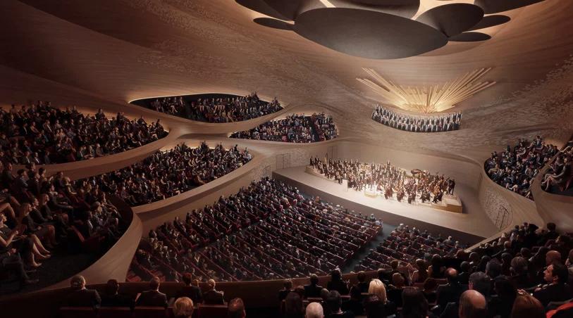 Новый акустический концертный зал Свердловской государственной филармонии от Zaha Hadid Architects