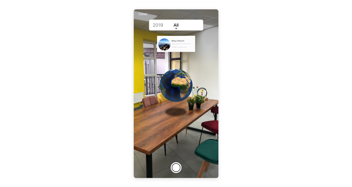 AR mode travel app