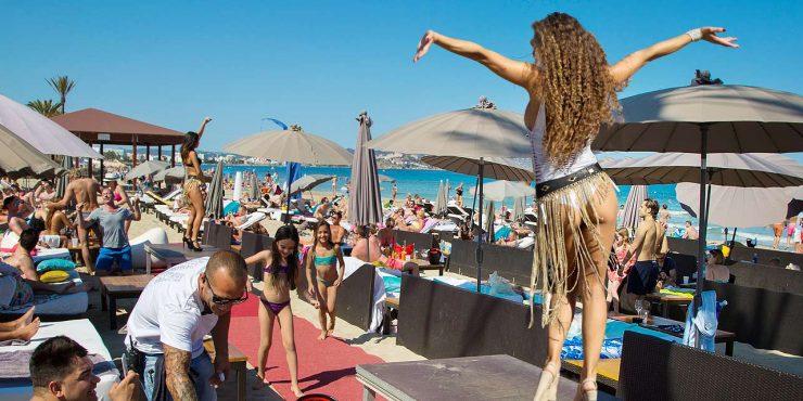 Beach clubs in Ibiza