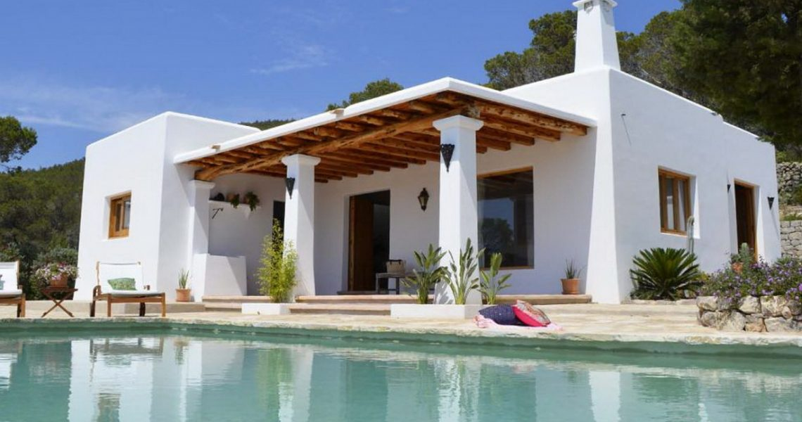Gorgeous little villa in Ibiza built in traditional Ibiza style