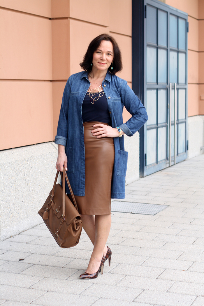 Denim Leatherskirt Interview mit Annette Höldrich von Lady of Style