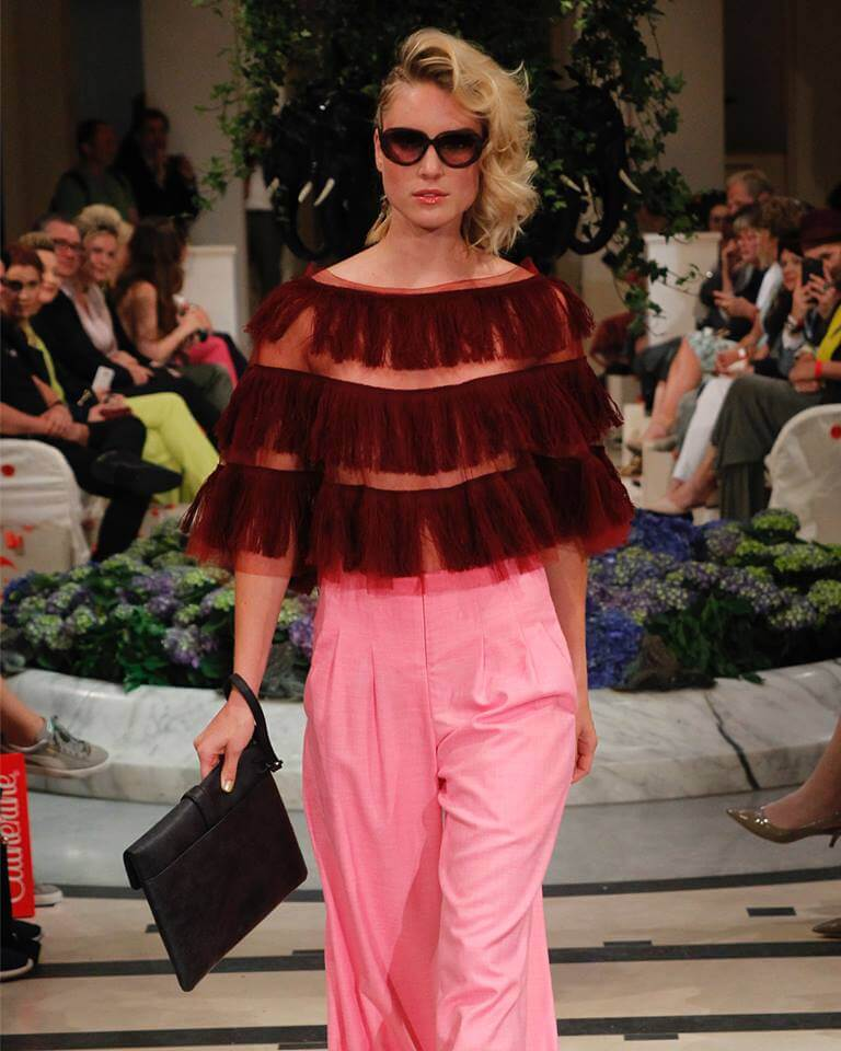Anja Gockel Ruffles Fashion Week Berlin S/S 2019: Anja Gockel Mode