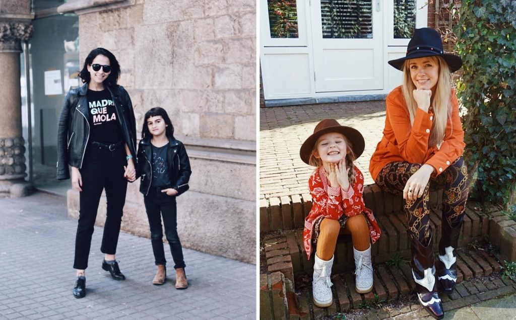 Herbst Outfits Mutter Tochter