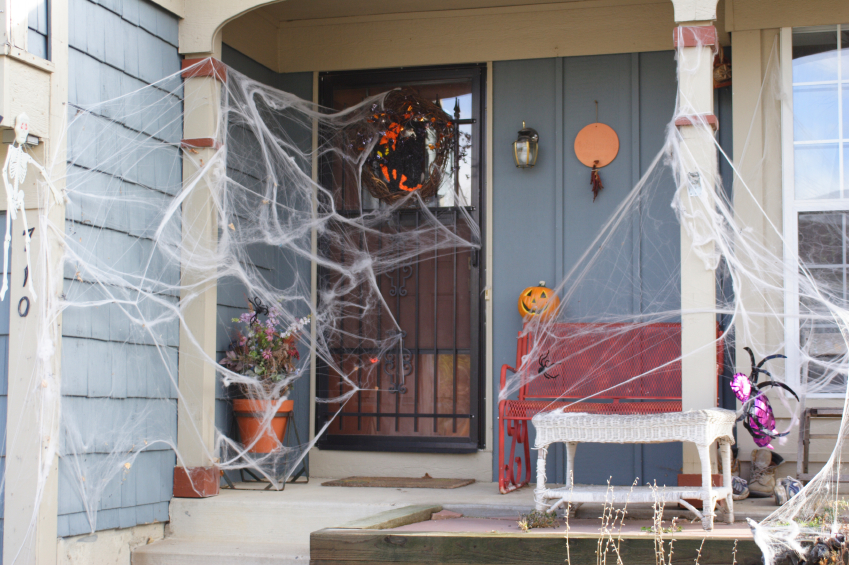 Decorated Holloween house