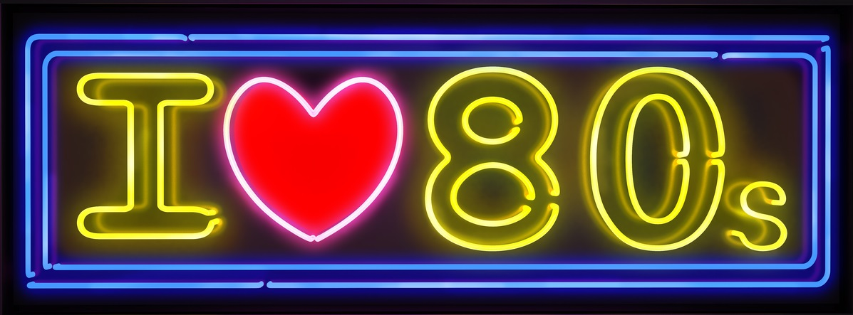 I love the 80s neon sign