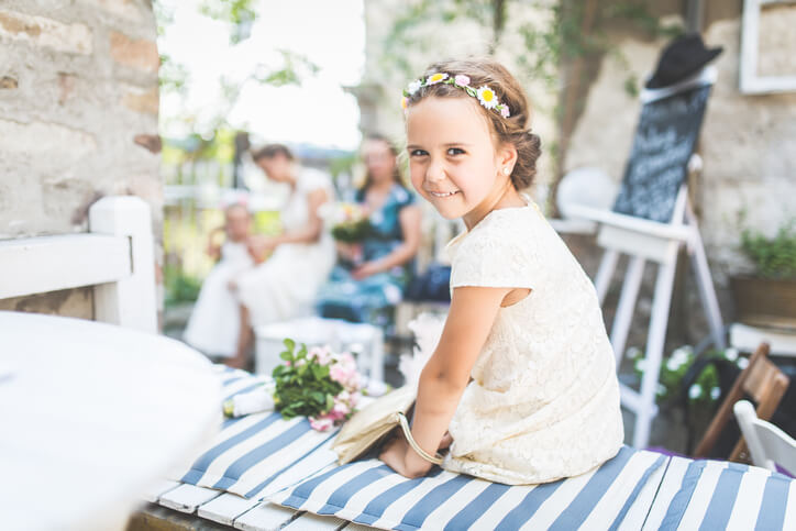 flower girl at wedding Costume de mariage pour enfant