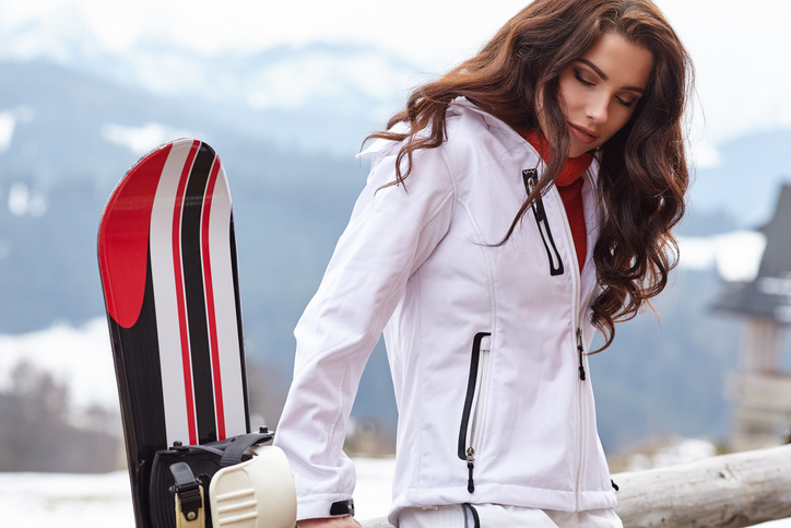 woman ski snow Tenue de ski