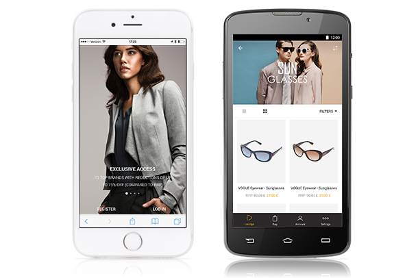 170418 iphone android screenshot LE APP DI ZALANDO PRIVÉ