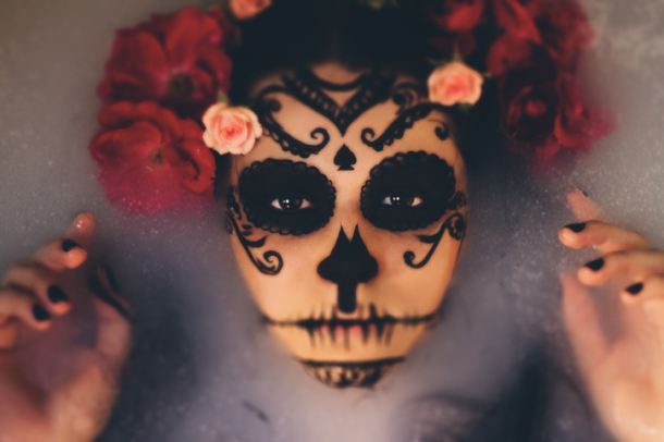 halloween makeup teschio messicano