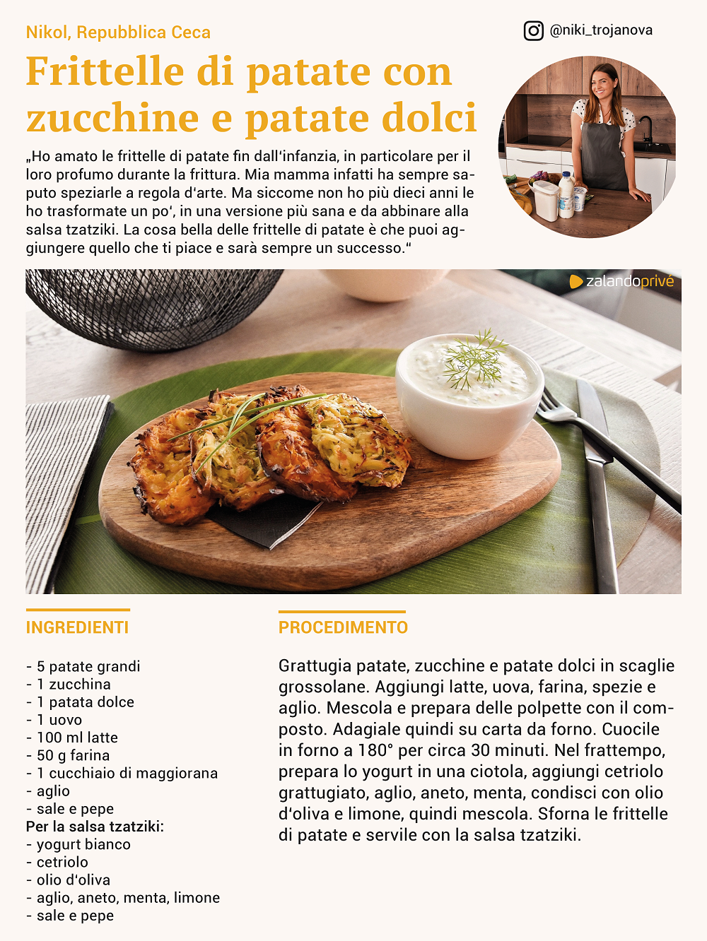 ricetta frittelle patate zucchine patate dolci