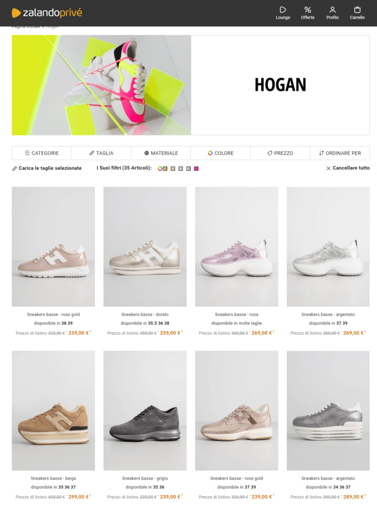 Hogan Outlet Zalando Prive It