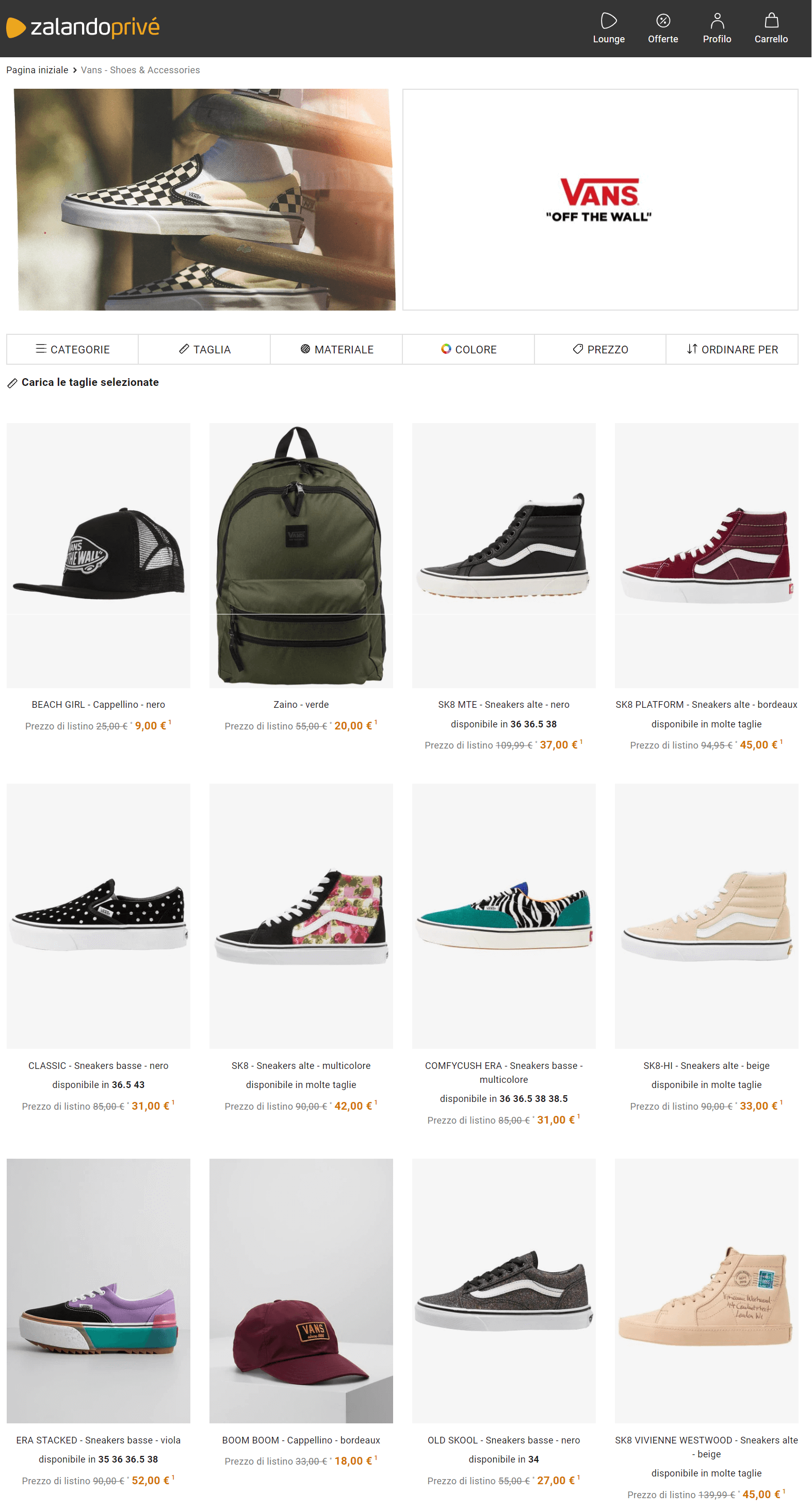VANS Outlet: online su Zalando Privé! | Zalando Privé IT