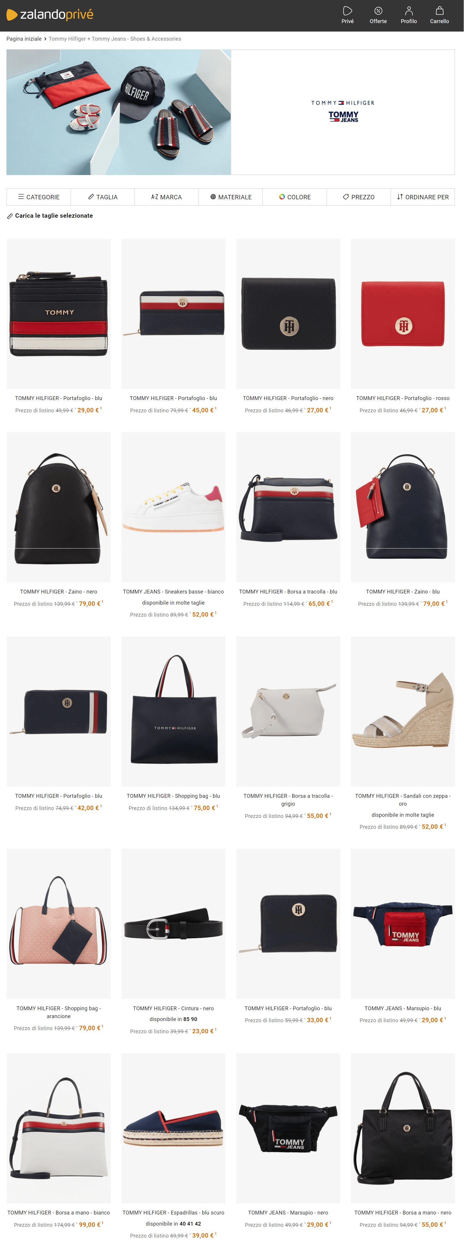 tommy hilfigher outlet zalando prive