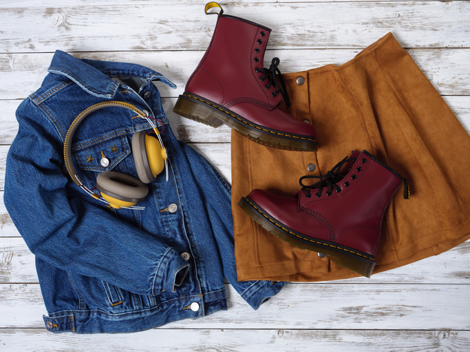 Rote Dr. Martens Boots