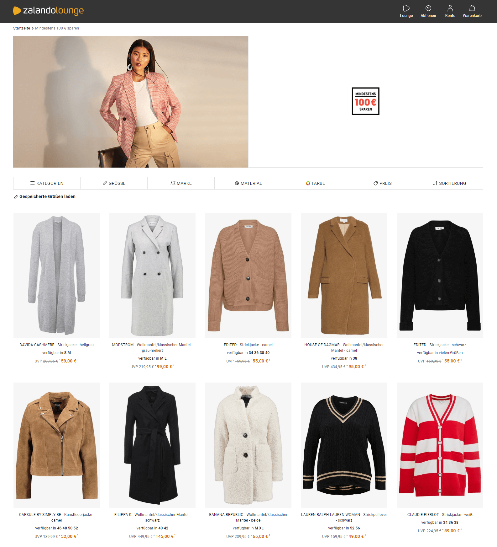 Damenbekleidung on sale zalando lounge