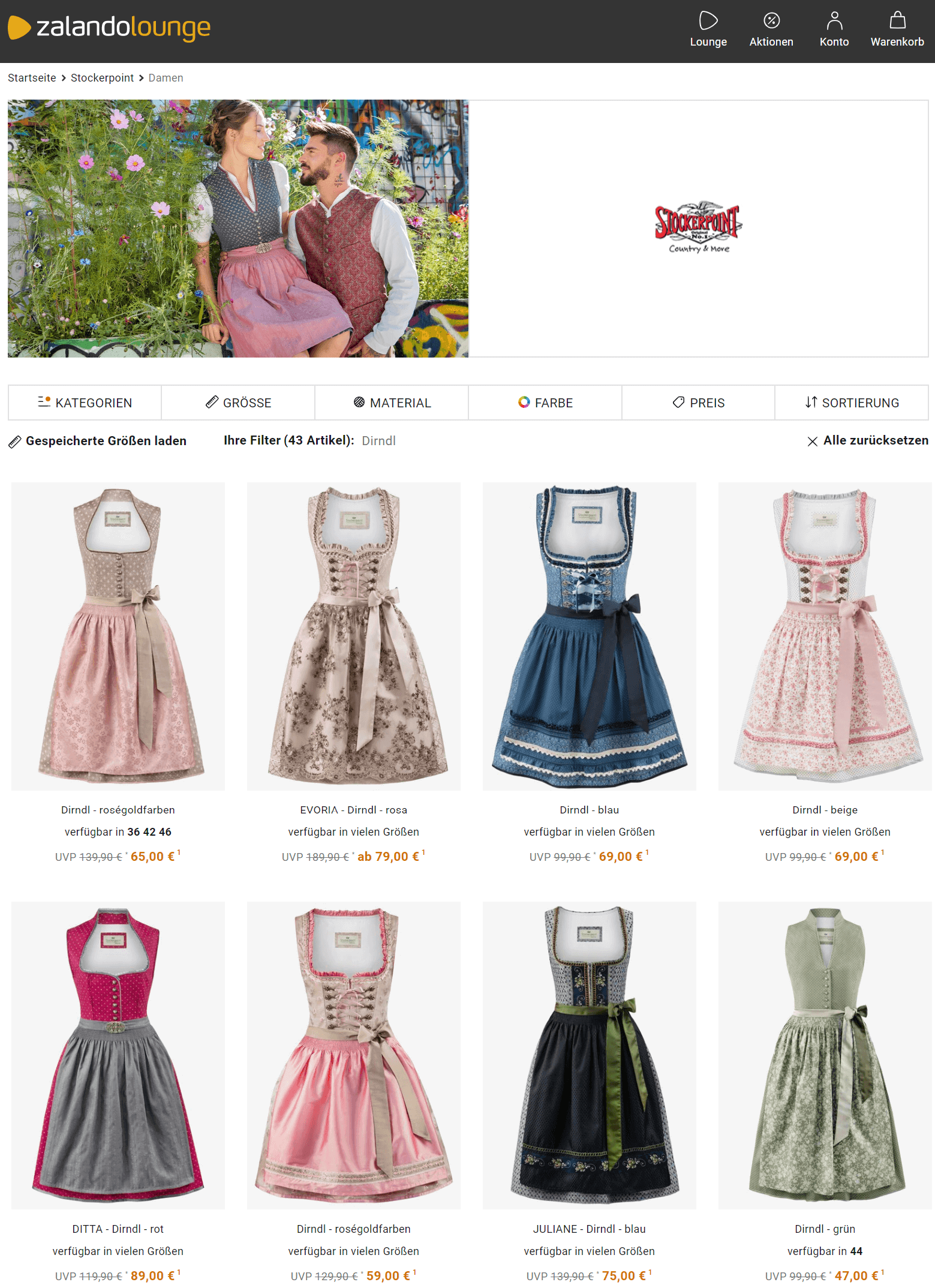 Dirndl outlet zalando lounge