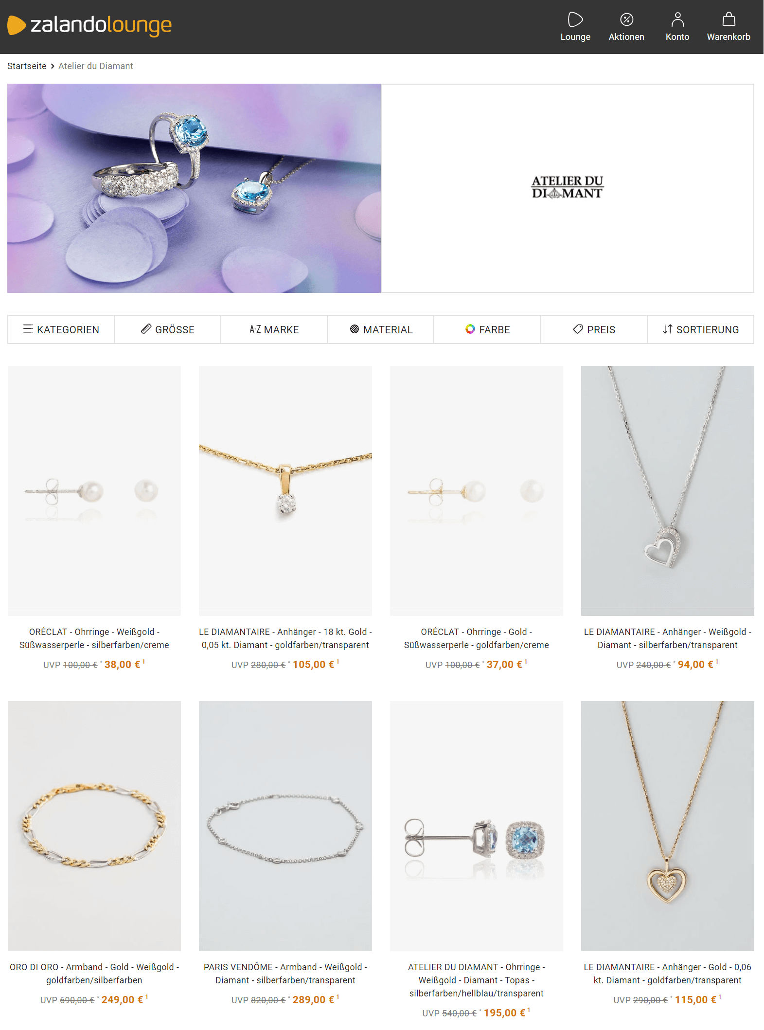 schmuck sale zalando lounge