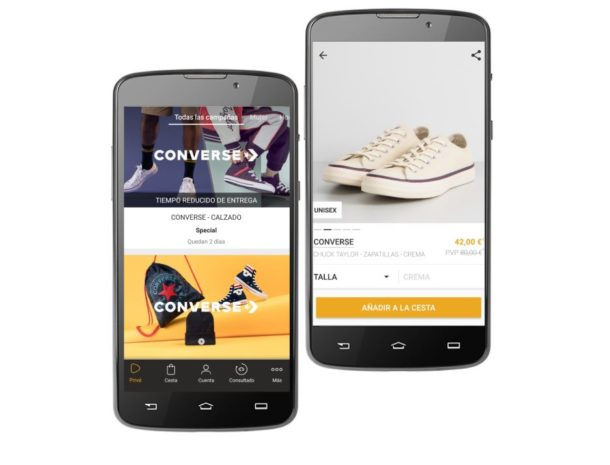 converse outlet en zalando prive
