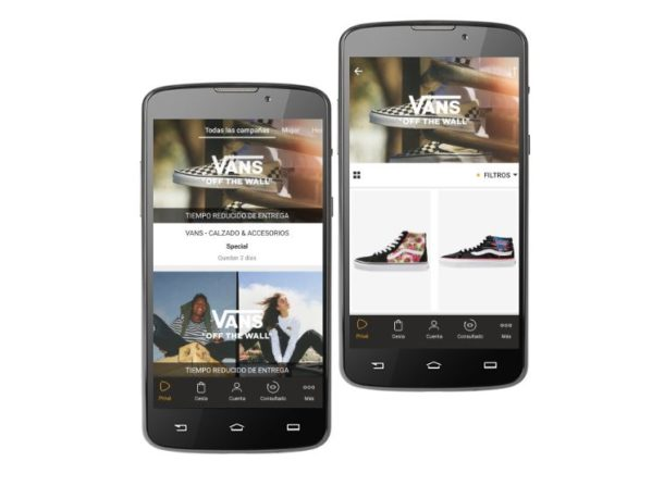 vans outlet en zalando prive