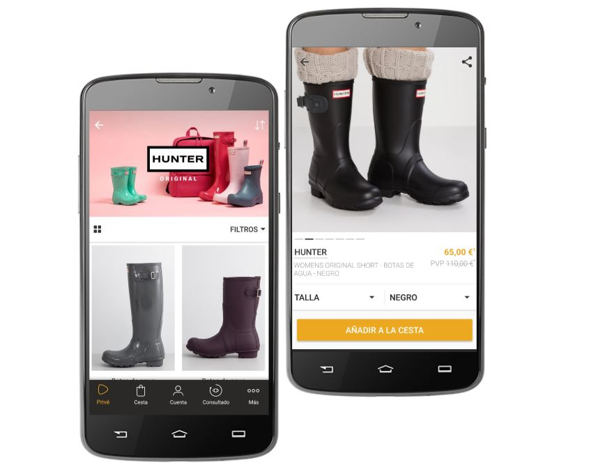 botas hunter outlet zalando prive