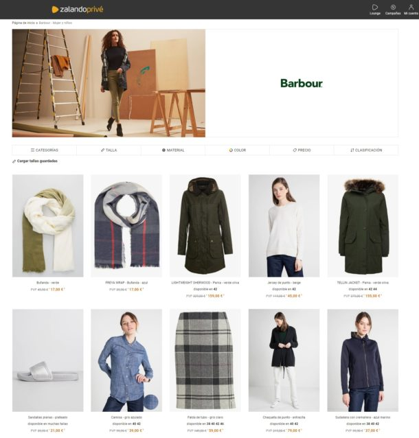barbour mujer