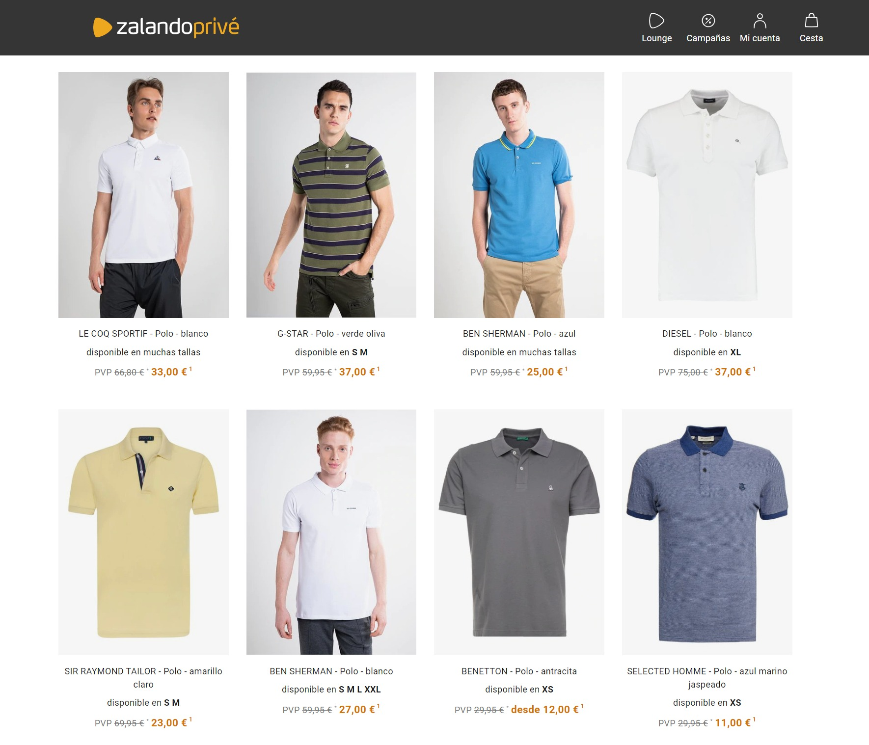 camisetas polo zalando prive