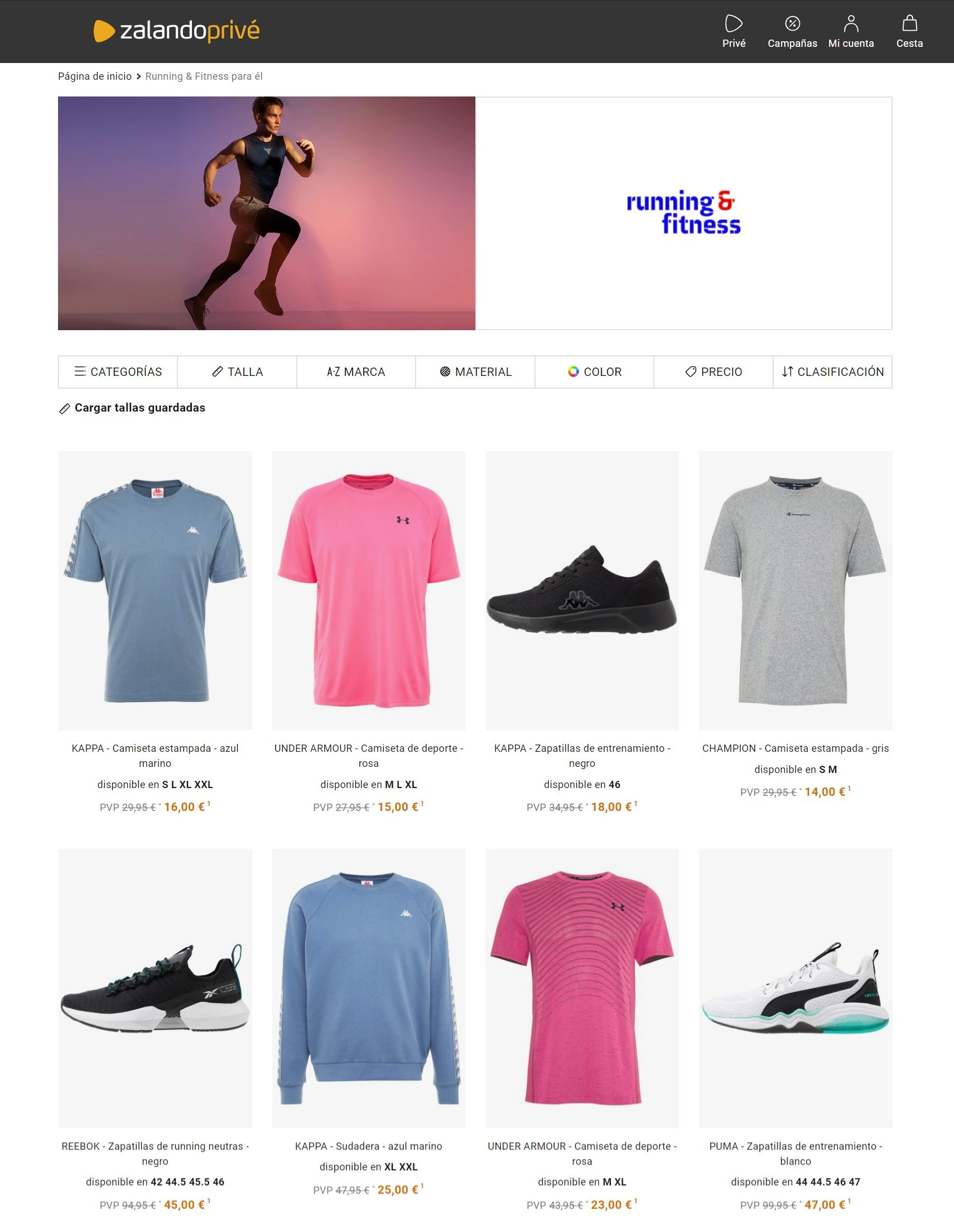 ropa deportiva outlet