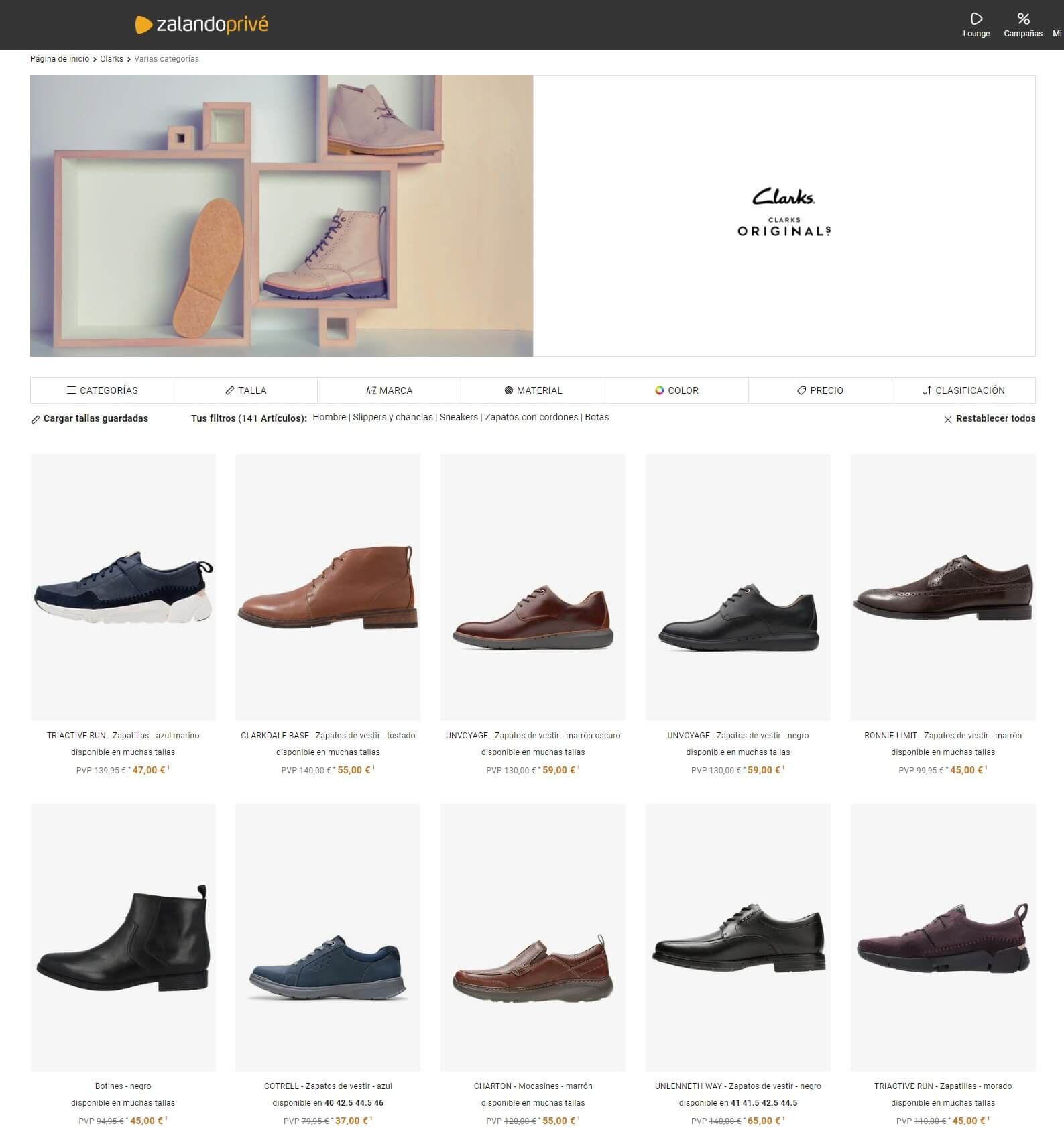 zapatos clarks outlet